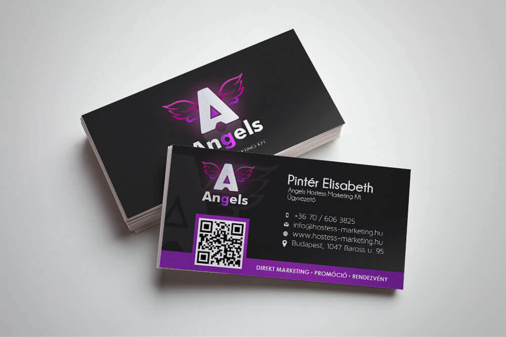 Angel hostess agency business card
