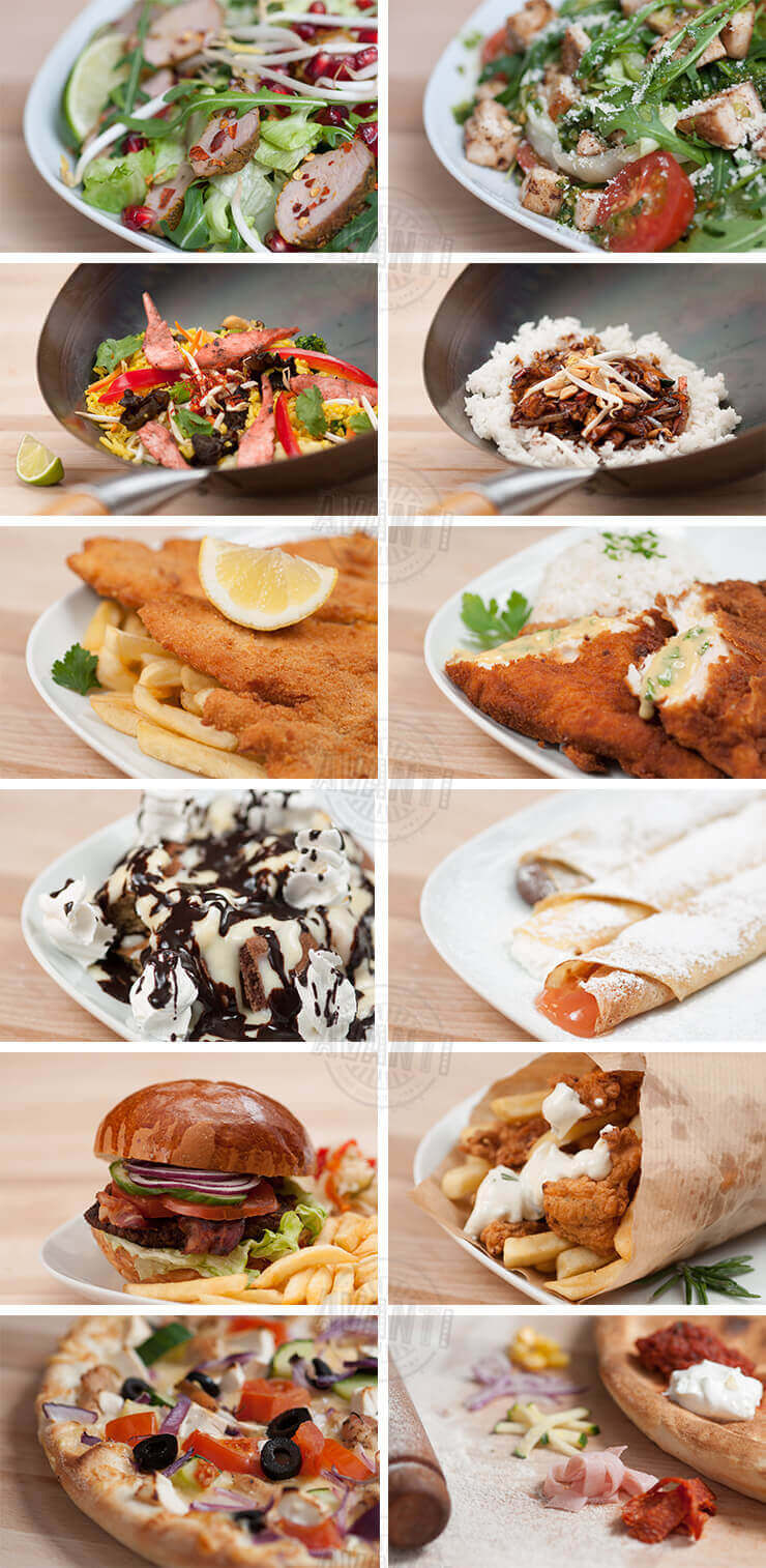 AVANTI menu photography